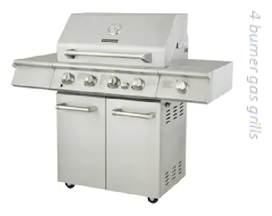 4 burner gas grills