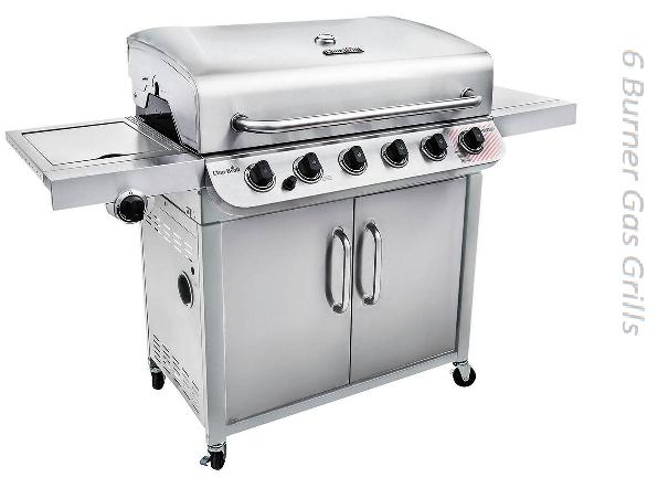 6 burner gas grills